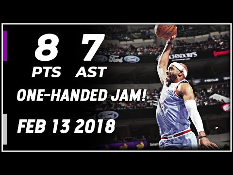 Vince Carter Highlights Kings vs Mavericks (02.13.2018) 8pts 7ast, One-Handed Jam!