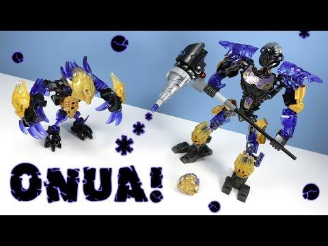 LEGO Bionicle Onua Uniter of Earth & Terak Creature 2016 Sets Build Review