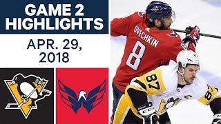 NHL Highlights | Penguins vs. Capitals, Game 2 - Apr. 29, 2018