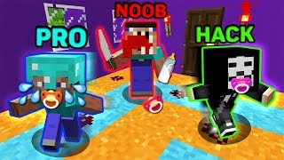 Minecraft NOOB vs PRO vs HACKER : SCARY BABY CHALLENGE IN MINECRAFT! ANIMATION!