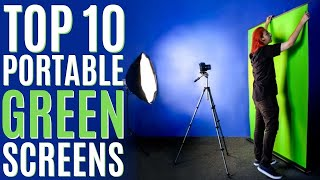Top 10: Portable Green Screen Backdrops of 2021 / Collapsible Chroma Key Panel for Photography Video