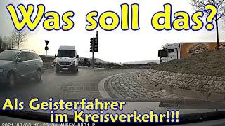 Tesla-Raser in der Stadt, beklopptes Überholen und falschrum im Kreisel   DDG Dashcam Germany   #234
