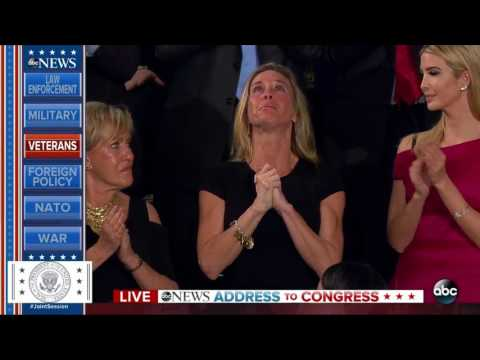 Carryn Owens standing ovation