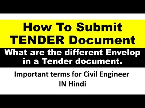 How To Submit A Tender Document