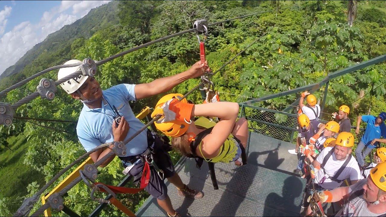 & Canopy Zipline Adventure Punta Cana | Punta Cana Tours - YouTube