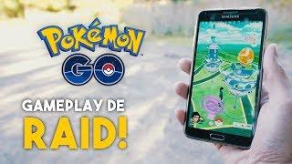 RAID NÍVEL 3 NO PARQUE CEMUCAM!   Gameplay Pokémon GO 4K