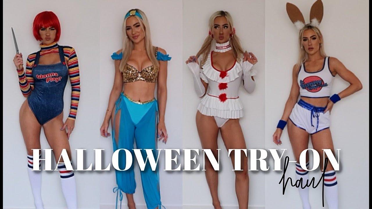HALLOWEEN COSTUME IDEAS - PART 3 - HOT Halloween Costumes! Try on haul!