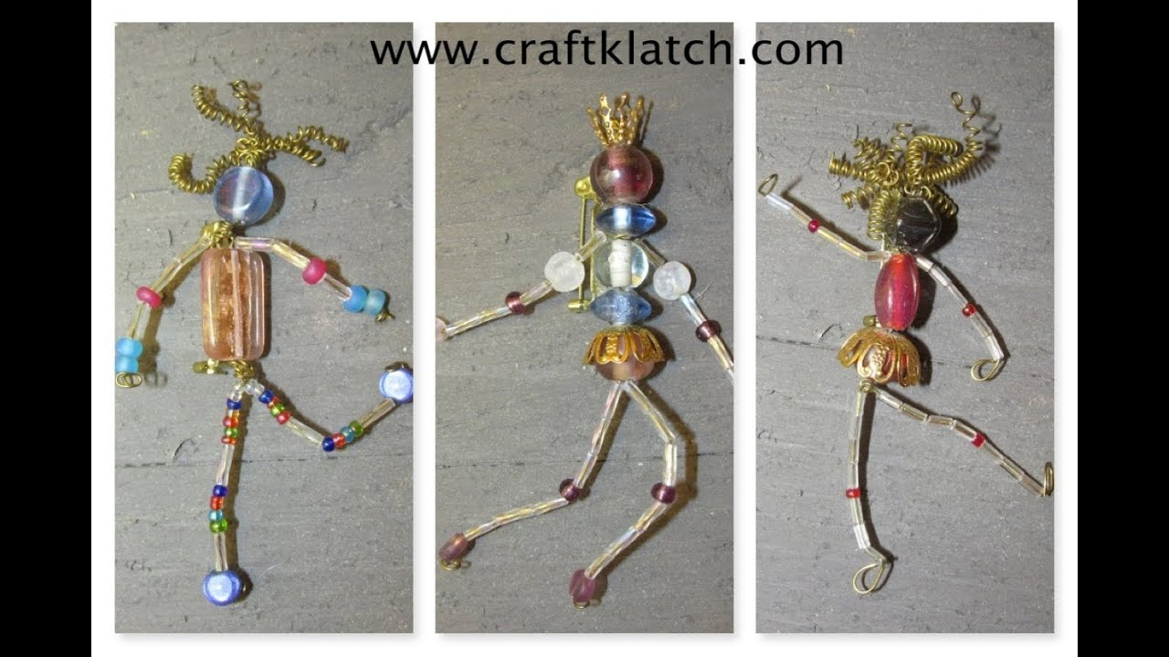 How to Make Bead People Craft Tutorial - YouTube