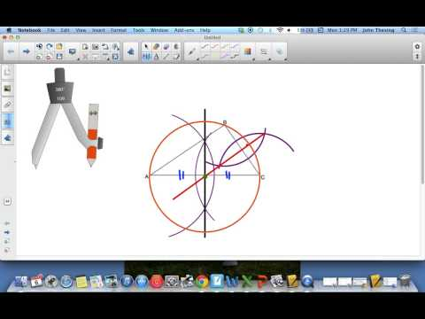 How to Create Circumscribed and Inscribed Circles Around Triangles Using a Compass and Straight Edge