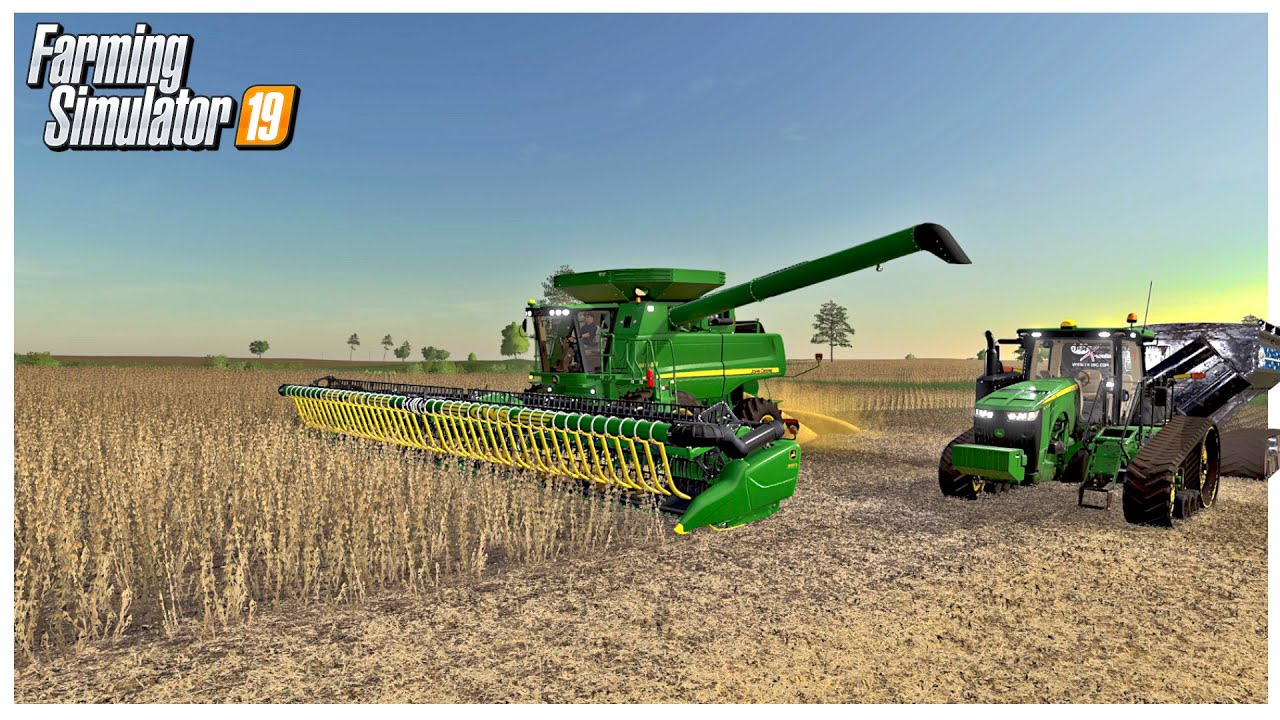 MILLENNIAL FARMS FIRST SOYBEAN HARVEST | CRAZY YIELD FS19