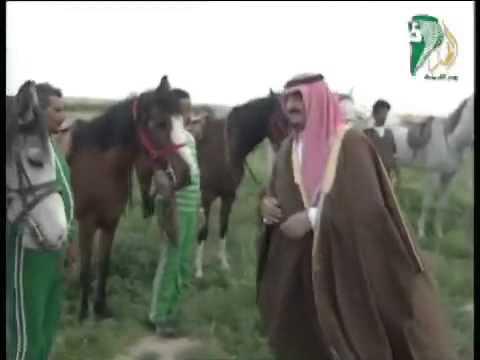 لحظات بين الملك فهد وابنه عبدالعزيز في التنهاة