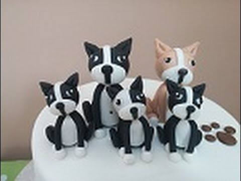 How To Fondant Boston Terrier Cake Topper Tutorial