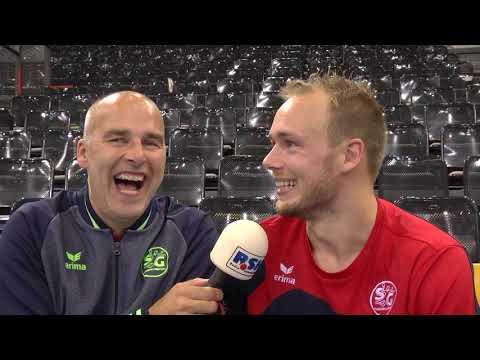 Interview mit Henrik Toft Hansen nach dem Heimsieg gegen die Eulen Ludwigshafen