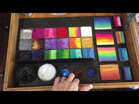 Face Painting Kit Setup with an Artists On The Go Case.