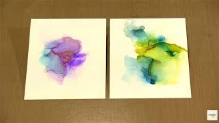 Ethereal Abstract Alcohol Inks & Magical Metallics by Joggles.com