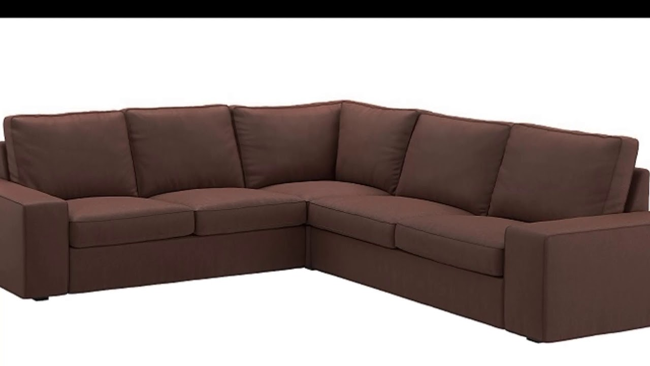 IKEA KIVIK Corner Sofa - YouTube