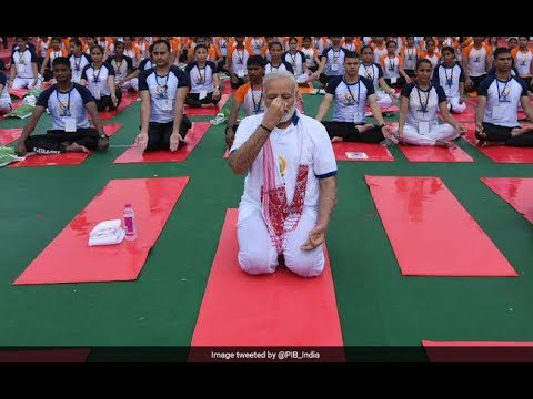 International Yoga Day    PM Narendra Modi Performs Yoga   In Lucknow   Watch