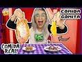 ¡COMIDA DE GOMITA vs COMIDA REAL! Me comí un pescado crudo* RETO - Lulu99