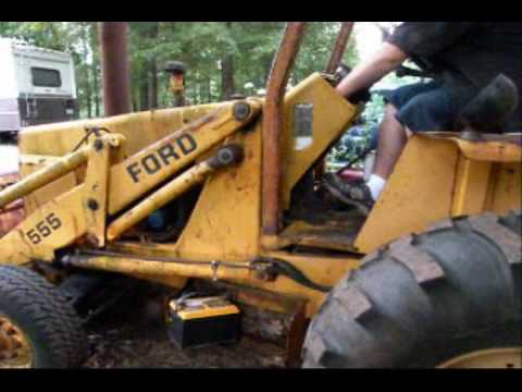 Ford 1977 555 Backhoe first start in 2 plus years  Part 1  YouTube