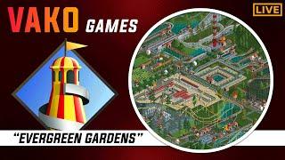 """Evergreen Gardens!"" - Rollercoaster Tycoon 1 - Livestream!"