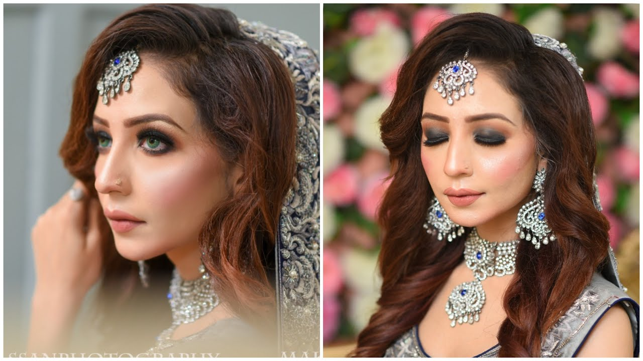 Best bridal Base For Summer   Amazing Smokey Bridal Makeup Tutorial