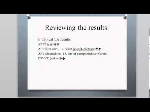 Curriculum design -Lupus Anticoagulant