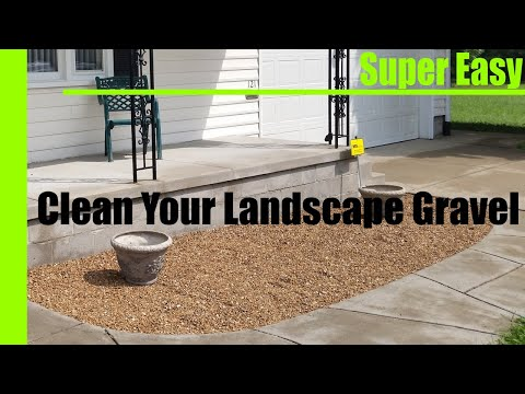 Cleaning Landscape Gravel or Stone
