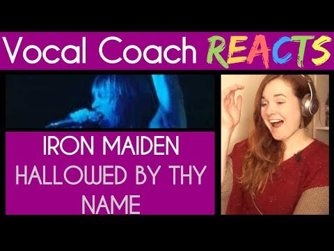 Vocal Coach reacts to Iron Maiden (Bruce Dickinson) Hallowed Be Thy Name