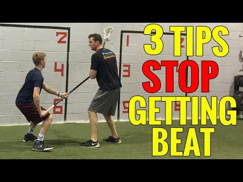 3 LACROSSE Defense Tips To STOP GETTING BEAT ON THE BALL!