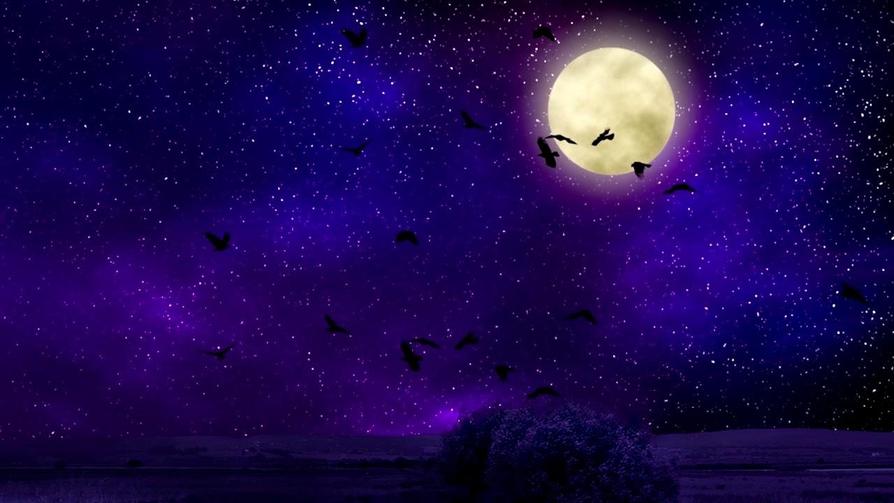 Картинка ночное небо со звездами и луной и сердцем