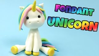How to make fondant UNICORN cake topper