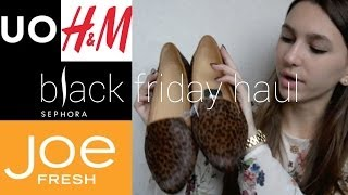 Black Friday Haul ft. Urban Outfitters, Sephora, H&M, and Joe Fresh | Beautybloom212 Thumbnail