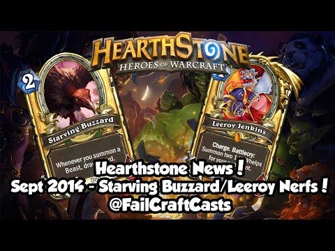 Hearthstone Leeroy Jenkins / Starving Buzzard Nerf Analysis/ News! | Sept 2014
