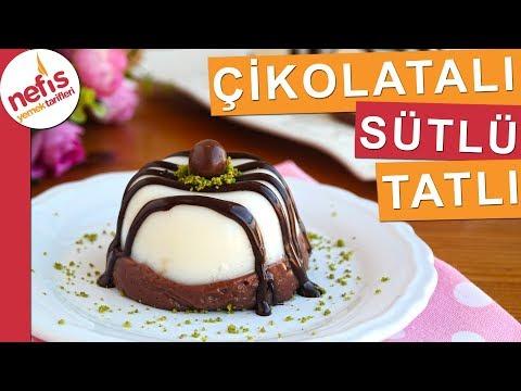 10 dakikada Pratik Çikolatalı Sütlü Tatlı Yapımı