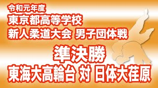 令和元年度東京都高等学校新人柔道大会男子団体戦 準決勝 東海大高輪台対日体大荏原