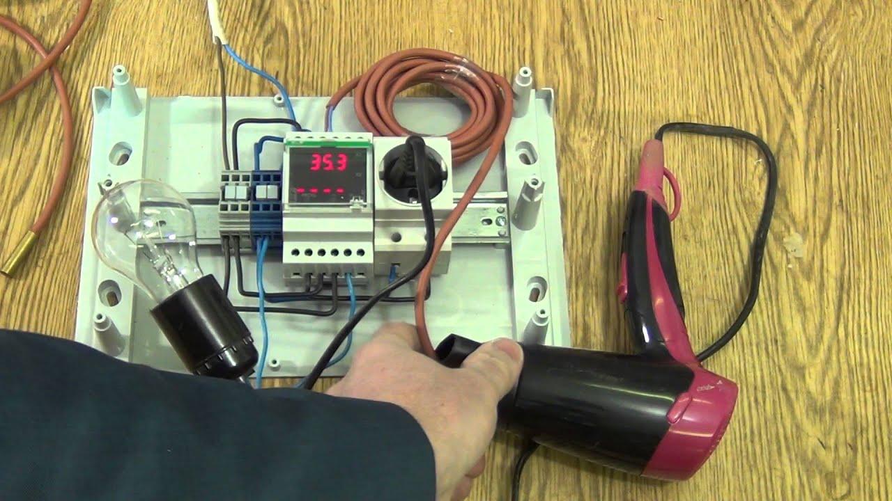 схема подключениярегулятор температуры црт