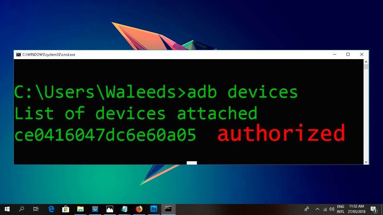 Plus 1 Android ADB: device unauthorized (Android устройство