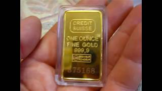Посилка з Китаю розпакування № 61 Злиток Швейцарського золота з Китаю 50мм х 28мм х 24мм. Сувенір