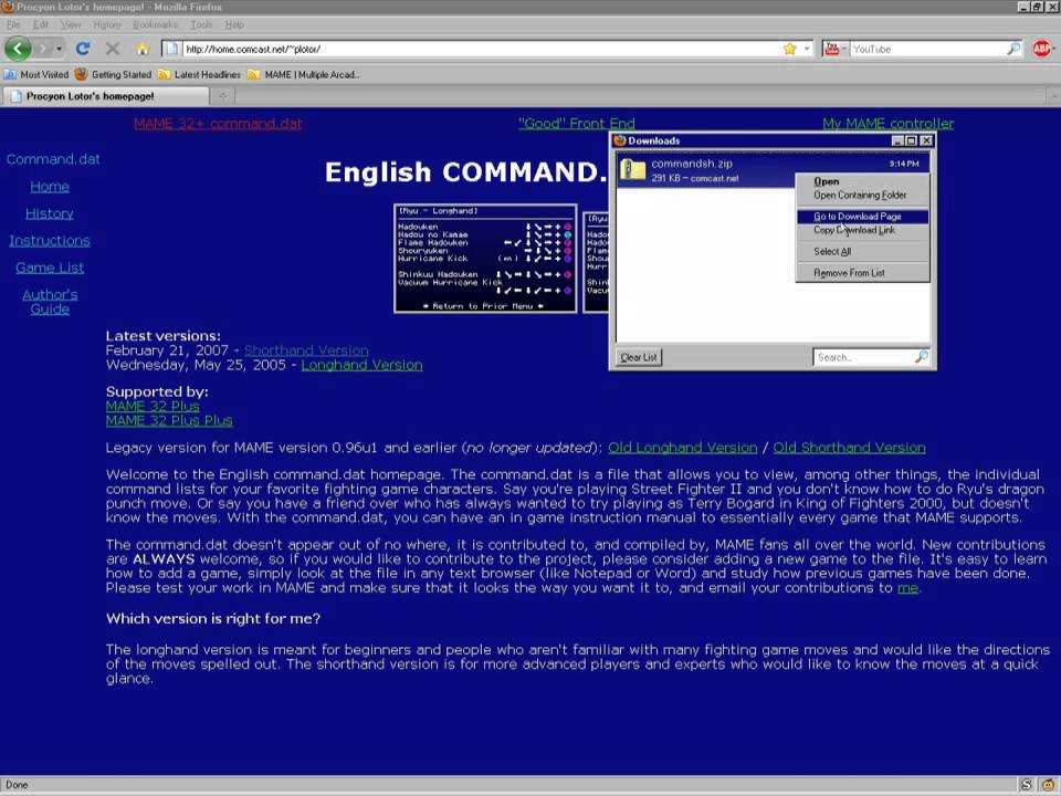 How to Use MAME Command List