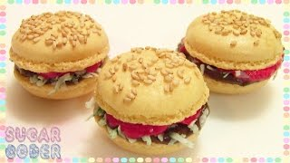 Hamburger Macarons, Hamburger Cookies - Sugarcoder