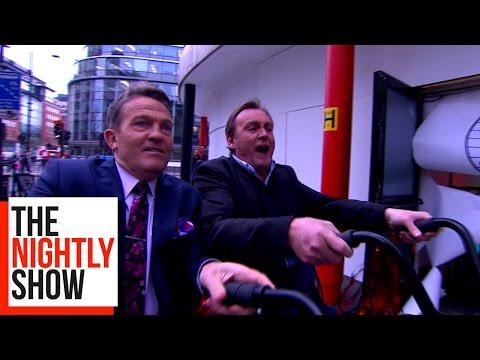 Philip Glenister & Bradley Walsh Run The Celebrity Circuit