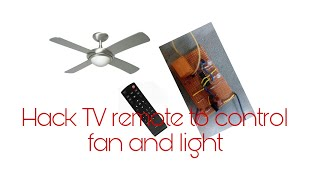 Video Control your FAN and LIGHT using T.V remote|Homemade. download MP3, 3GP, MP4, WEBM, AVI, FLV Juli 2018