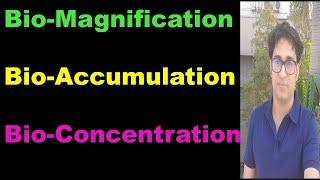Biomagnification, Bioaccumulation & Bioconcentration
