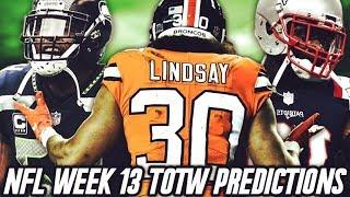 TOTW BOSS WAGNER, OGLETREE, AND LINDSAY! TOTW WEEK 13 PREDICTIONS! | MADDEN 19 ULTIMATE TEAM