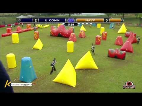 University of Connecticut vs US Naval Academy - 2016 NCPA College Paintball Ochos