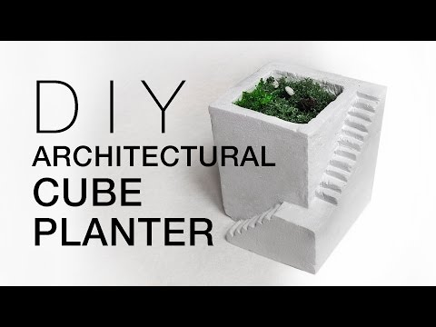 DIY Architectural Cube Planter with CLAY Home Room Decor