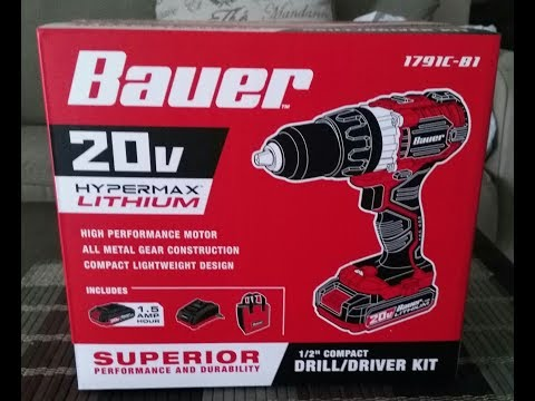 Bauer 20V Lithium Drill/Driver