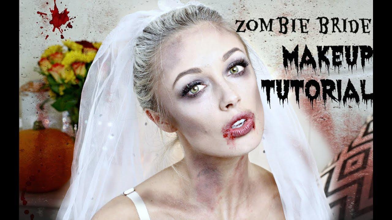 Zombie Bride Halloween Makeup Tutorial | Fashion Mumblr - YouTube