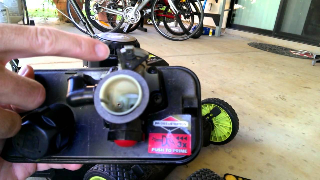 Briggs and Stratton lawnmower carburetor repair for surging engines Part 1