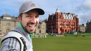 I play the Old Course at ST ANDREWS!!!
